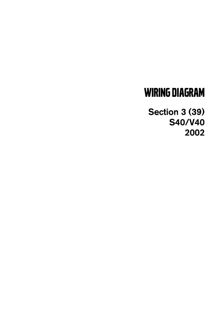 2002 Volvo S40 V40 Wiring Diagrams Service Manual Pdf  16