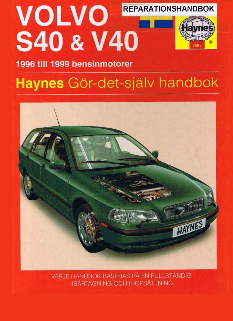 Volvo S40 V40 Haynes Repair Book Pdf  80 8 Mb