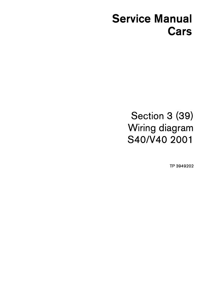 2001 Volvo S40 V40 Wiring Diagrams Service Manual Pdf  14
