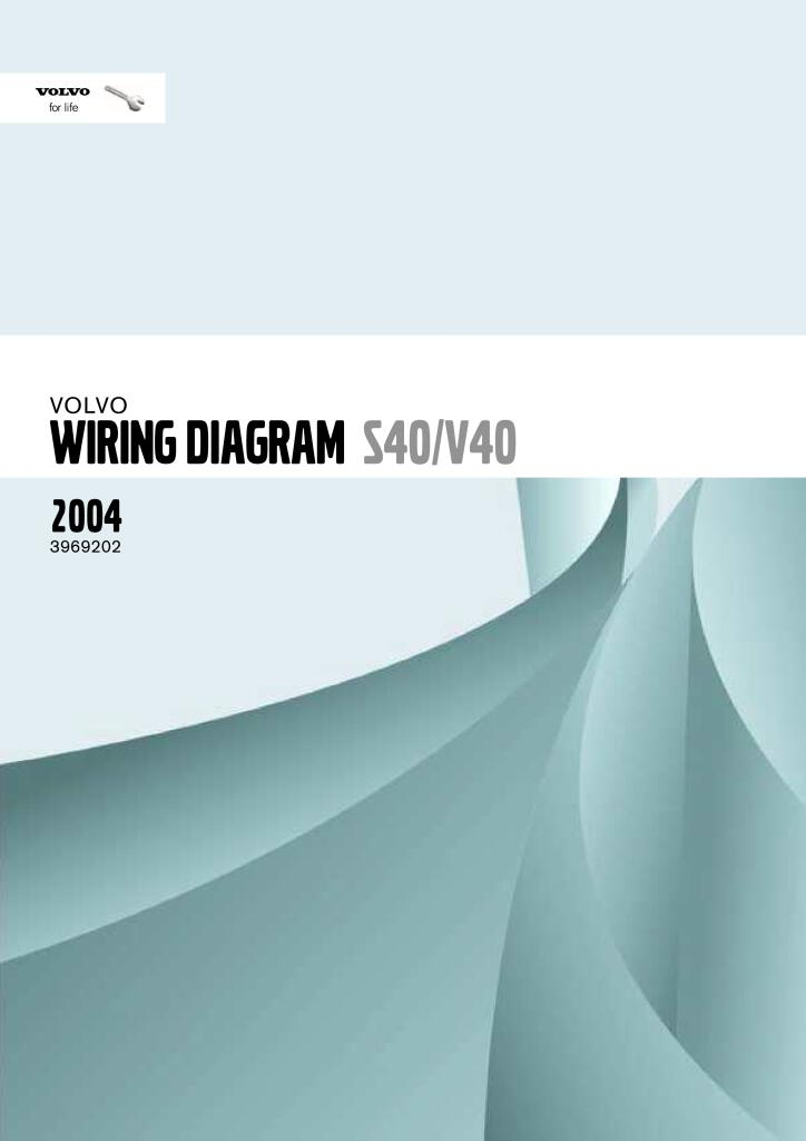 2004 Volvo S40 V40 Wiring Diagram Service Manual Pdf  17 9 Mb