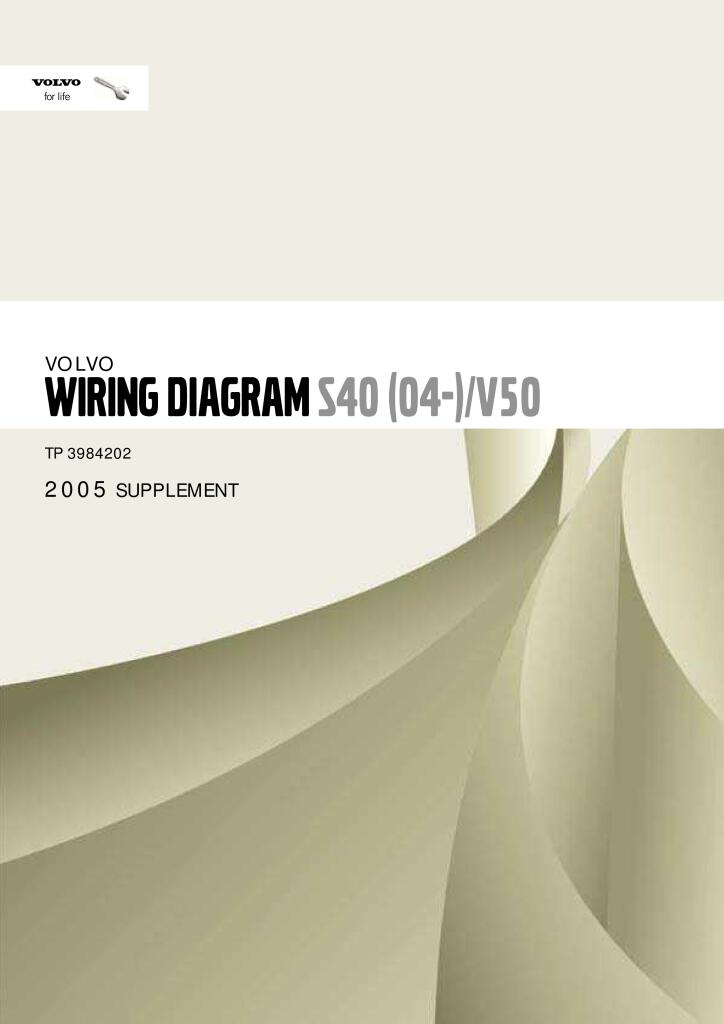 2005 Volvo S40 V50 Wiring Diagram Service Manual Pdf  12 7 Mb