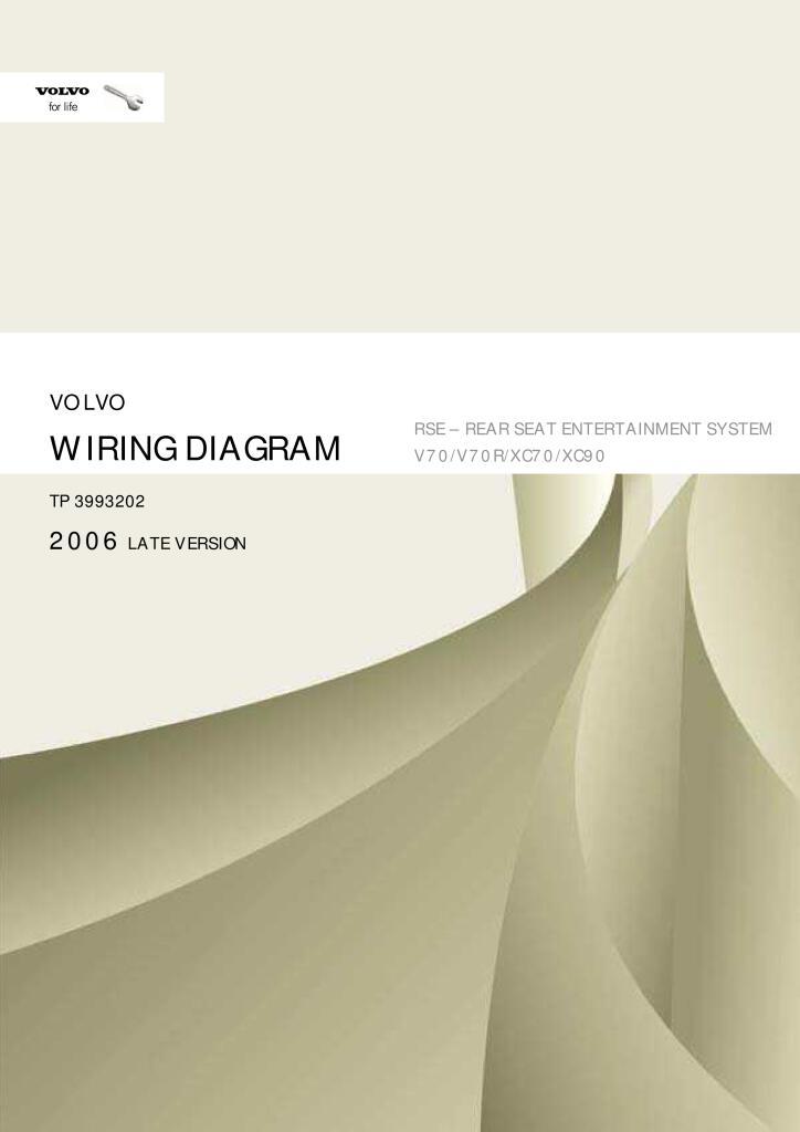 2006 volvo v70 xc70 xc90 wiring diagram rear seat ...