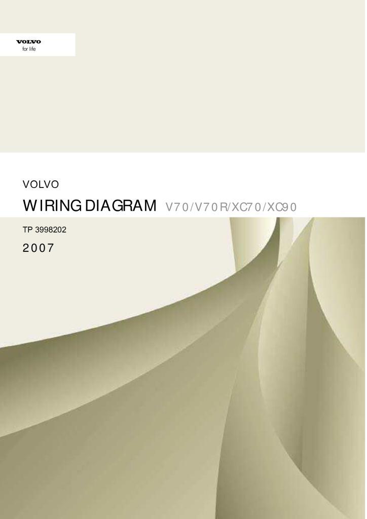 2007 Volvo V70 V70r Xc70 Xc90 Wiring Diagram Service Manual Pdf  35 4 Mb
