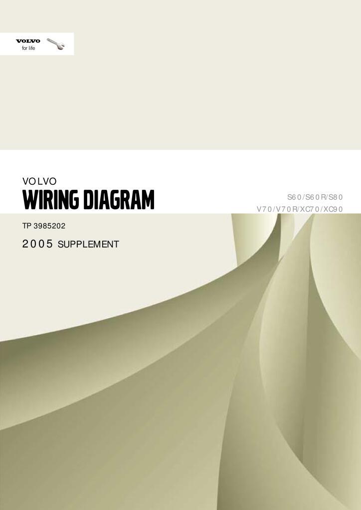 2005 Volvo S60 S80 V70 Xc70 Xc90 Wiring Diagram Service