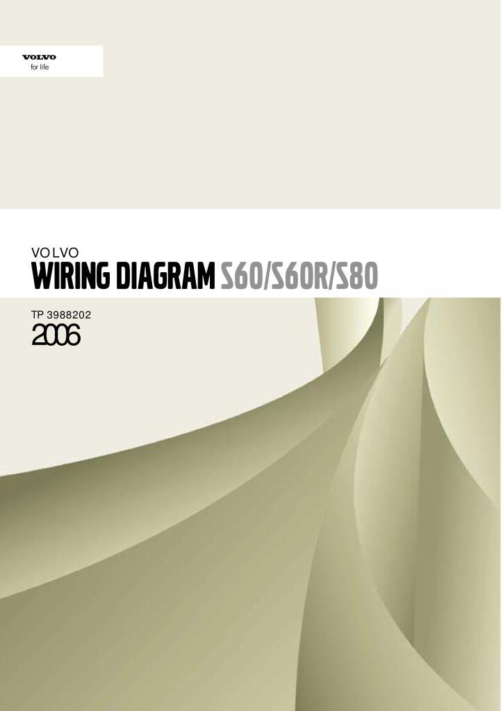2006 Volvo S60 S80 Wiring Diagram Service Manual Pdf  24 6 Mb