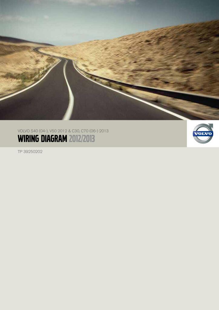 2012 2013 Volvo S40 V50 C30 C70 Wiring Diagram Pdf  49 2 Mb